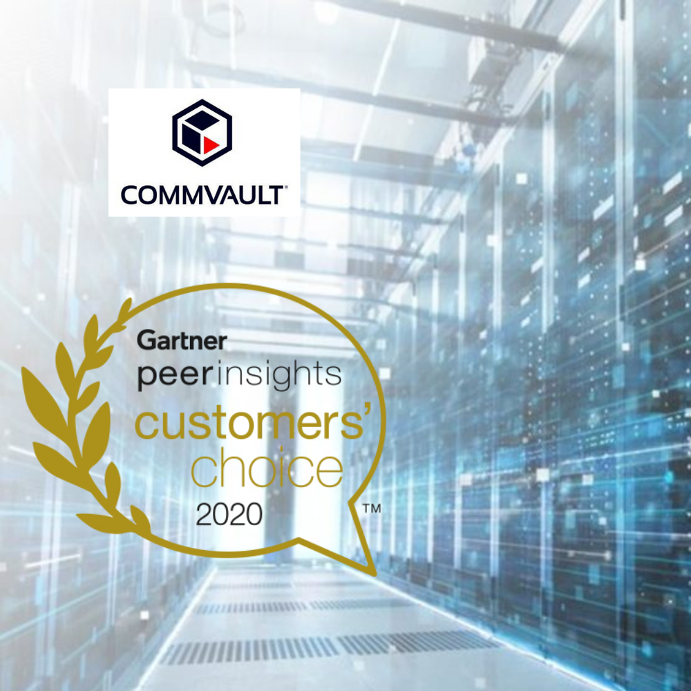 Commvault Wins Gartner Peers Sight Customer's Choice for Year 2020 Enterprise Data Backup & Recovery